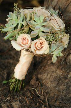peach wedding, peach wedding flowers, wedding bouquet, wedding flowers, silk wedding flowers, succulent bouquet