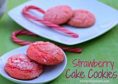 Strawberry Cake Cookies
