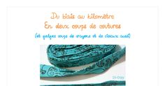 Biais au kilomètre.pdf Techniques Couture, Diy Crafts, Crafting, Learn To Sew, Tips And Tricks, Projects, Basteln, Artesanato, Crafts