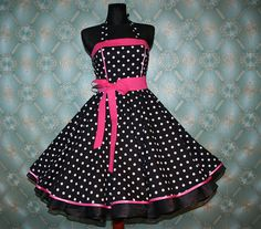 50's vintage dress full skirt black white by Lolablossomclothing, $99.00