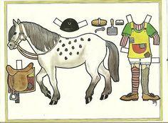 Pippi Longstocking Langstrump Horse Vintage Paper Doll - bidStart (item 18479090 in Collectibles & Ephemera... Other)