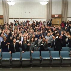 With #End45 written on their palms to draw attention to the more than 45 million people living in #poverty in #America, staff members of Catholic Charities, Diocese of Metuchen raise their hands to end poverty in America. http://www.ccdom.org/End45
