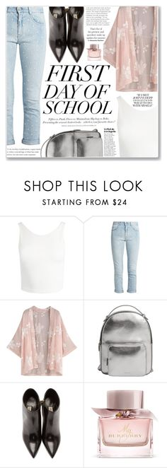 """""""FIRST DAY OF SCHOOL"""" by brenndha ❤ liked on Polyvore featuring Sans Souci, STELLA McCARTNEY, MANGO, H&M and Burberry"""