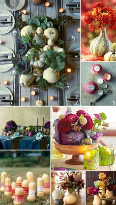 50 Unique Thanksgiving Table Ideas to Buy & DIY | Camp Makery.  Squash bowling!!!!!