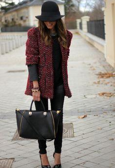 Tweed Jacket  , Zara in Jackets, Mango in Shirt / Blouses, Bimba & Lola in Jewelry, Zara in Bags, H in Hats