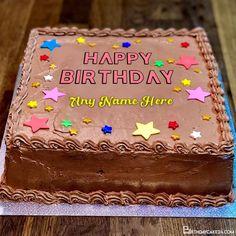 Chocolate Star Birthday Cake With Name Generator