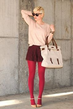 Winter Tights to give shorts a way to add femininity to outfits.