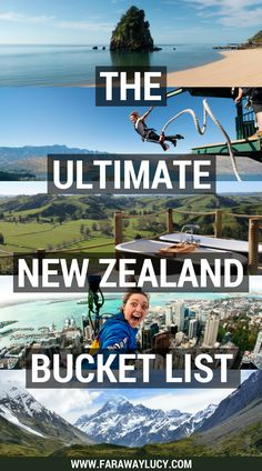 The Ultimate New Zealand Bucket List: 50 awesome experiences that you won't want to miss out on in New Zealand, both on the South Island and North Island from sightseeing and wine tasting to skydiving and bungy jumping! Some of my recommendations include Hobbiton, Milford Sound, Waitomo Caves, Lake Tekapo, the Tongariro Alpine Crossing, hiking Franz Josef Glacier, visiting White Island, visiting Hot Water Beach, Aoraki/Mount Cook, zorbing in Rotorua, visiting Cathedral Cove, doing a Lord of…