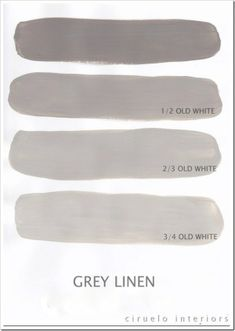 Annie Sloan Chalk Paint - I think this is French Linen in North America with Old white (Annie Sloan Grey Linen) (kitchen color below the wainscoting) Chalk Paint Projects, Chalk Paint Furniture, Paint Ideas, Furniture Design, Gray Furniture, Painting Tips, Painting Techniques, Chalk Painting, Annie Sloan Old White