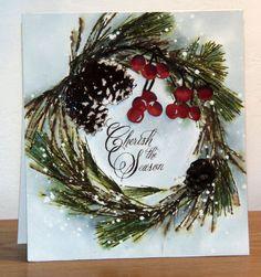 Brush pines 40-408 et Berry cluster 51-157 et aussi Nature's gift 430-251 de Penny Black - par Micheline 'Mimi' Jourdain