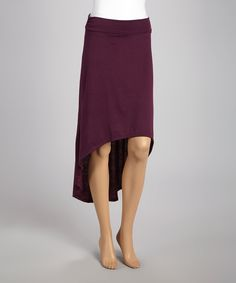 Look what I found on #zulily! Maroon Hi-Low Skirt by Select Brands #zulilyfinds