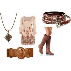 dresses and boots :)