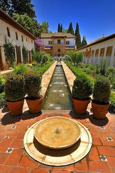 Generalife Gardens - La Alhambra, Granada, Andalusia, Spain