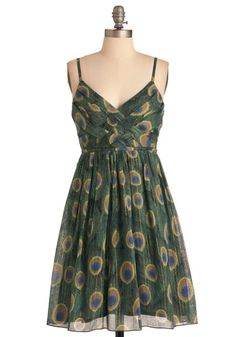 Sweet Peacock Dress, ModCloth. I kinda like this with a black cami, and cardigan!