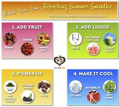 Build Your Own Refreshing Summer Smoothie