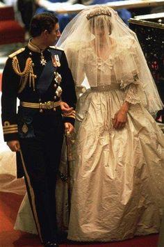 Prince Charles & Princess Diana, wedding day 1981