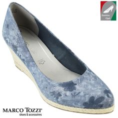 Marco Tozzi női bőr cipő 2-22446-28 853 kék/virág kombi Flats, Shoes, Fashion, Loafers & Slip Ons, Zapatos, Moda, Shoes Outlet, La Mode, Shoe