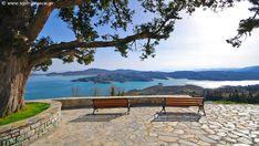 Λίμνη Πλαστήρα Outdoor Furniture, Outdoor Decor, Greece, Bench, Mountains, Park, Nature, Travel, Home Decor