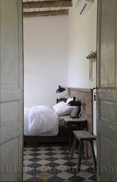rustic white bedroom