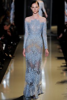 PARIS HAUTE COUTURE: Elie Saab Spring 2013 - Image Amplified: The Flash and Glam of All Things Pop Culture. From the Runway to the Red Carpet, High Fashion to Music, Movie Stars to Supermodels.