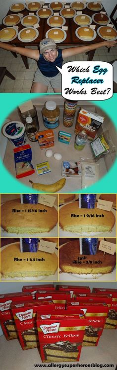 Which Egg Replacer Works Best for Cake? I baked 18 cakes to see. Is there a clear winner? Eggless Recipes, Peanut Recipes, Vegan Recipes, Egg Free Recipes, Allergy Free Recipes, Baby Food Guide, Egg Replacement, Egg Allergy, Substitute For Egg
