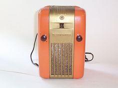 westinghouse: #orange radio #vintage