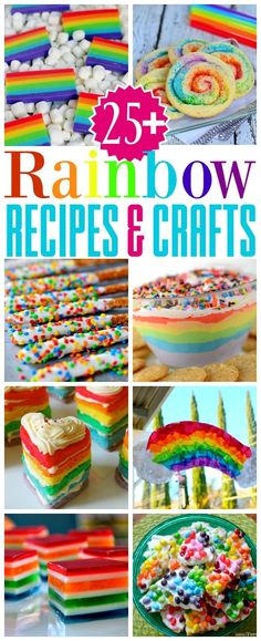 More than 25 Rainbow Recipes and Crafts that are bound to make you smile! Patricks Day, parties and more! // Mom On Timeout birthday cake Rainbow Treats, Rainbow Food, Rainbow Cakes, Rainbow Icing, Rainbow Desserts, Rainbow Stuff, Rainbow Birthday Party, Unicorn Birthday, Birthday Cake