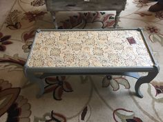 Coffee table with fabric top