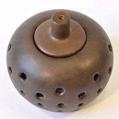 Duftlampe Teelichthalter Keramik braun bauchig