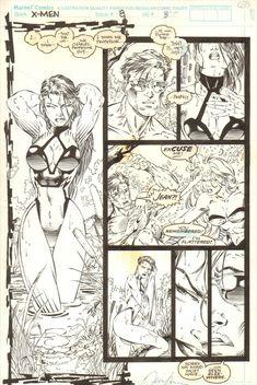 X-Men #8 w/ Swimsuit Psylocke, Cyclops and Jean by Jim Lee, in YehoyLee's Jim Lee Comic Art Gallery Room - 818688