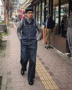40s Outfits, Fashion Outfits, Dungarees, Overalls, Dry Bones, Fukuoka, Vintage Denim, Workwear, Parachute Pants