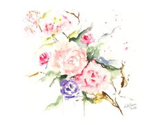 Serenity~ Featuring Milk&HoneyBreads' pretty serenity abstract watercolor!  by Rosy B on Etsy