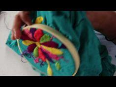 Un simple vídeo de cómo realizar punto relleno, que es un punto básico para el bordado mexicano.