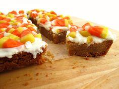 Candy Corn Shortbread Bars Recipe - KitchenDaily
