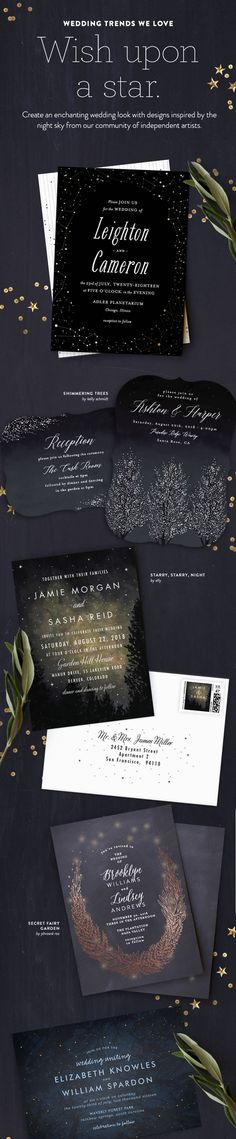 It was written in the stars. Create a romantic starlit celebration with enchanting Minted wedding stationery designs inspired by an ethereal night sky.  http://www.minted.com/gifts/nocturne-wedding-invitations