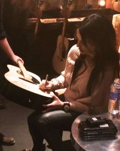 Want to Win this Acoustic Guitar signed by me?! Enter the Slow Me Down Cover Contest and you just might! Details and Entry Form at: http://wwwsaraevans.com/slowmedowncover