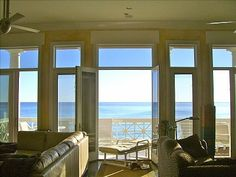 Carillon Beach house rental - View walking toward the balcony off of the Great Room; sleeps 12 (Fla Gulf Coast)