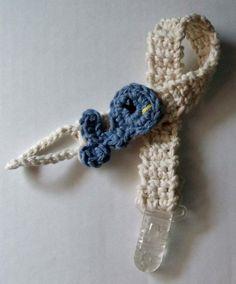 - crochet cotton baby pacifier holder  visit my blog at www.yolandascreations.blogspot.com