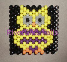 Custom Yellow Owl Kandi Bracelet Cuff