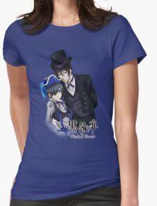 black butler sebastian with a top hat ciel dressedup Womens T-Shirt