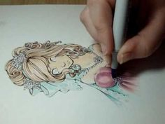 Copic Marker Drawing: Pastels