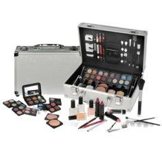 Travel Cosmetic Vanity Case 59 Piece Bea...