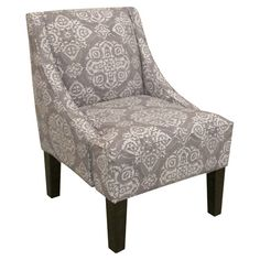 Pine wood accent chair with swoop arms and foam padding. Handmade in the USA.  Product: ChairConstruction Material: ...