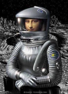 Gioconda 2001. Digitally created by David Teixidor Buenaventura  (via Sala Zero: Algumas versões de Mona Lisa)