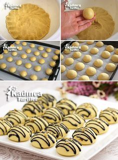 Lemon Flour Cookies Recipe, How To - Womanly Recipes, Most Delicious Recipe, Delicious Cake Recipes, Yummy Cakes, Yummy Food, No Flour Cookies, Sweet Cookies, Biscuit Cookies, Donut Recipes, Cookie Recipes
