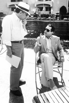 Martin Scorsese and Robert De Niro on the set of 'Casino' (1995)