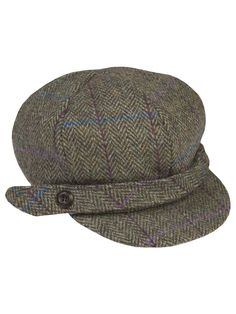 This Harris Tweed baker boy cap is perfect for town or country wear, made from 100% pure virgin wool that has been hand woven by Hebridean craftsmen. Sure to stand the test of time, this cap is a great way to complete any outfit. Fabric: 100% wool Li