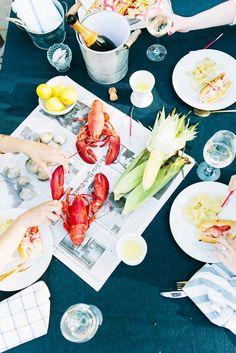 Photo: www.erinmcginn.com/ Styling: www.abbycapalbo.com  Summer Lobster Bake via @mydomaine