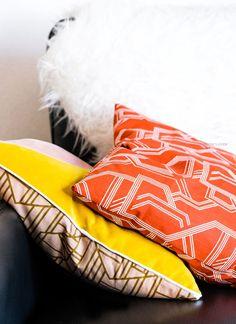 Treffpunkt Sofaecke Diy Kissenbezuge In Knalligen Herbsttonen Pillows Throw Pillows Sewing