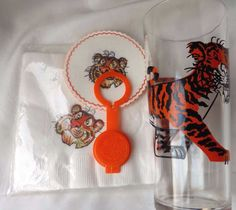Tony The Tiger Coasters Napkins Glass Lot 13 VTG Kellogg Esso Gas Advertising…